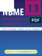 NBME 13 OFFICIAL Answers and Explanations