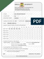 Annamalaiuniv Examination Form