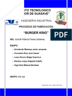 BURGER KING Procesos de Fabricacion