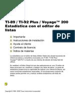 Voyage 200 Estadistica