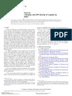 ASTM D-4052