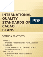 International Quality Standards of Cacao Beans