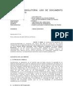 Falsificaciòn y Uso de Documento Falso