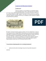 Características y Consecuencias de La Revolución Industrial