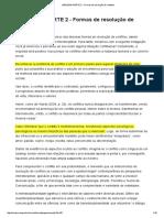 PARTE 2 - Formas de Resolução de Conflitos (1)