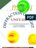Unit - III Diffraction of Light