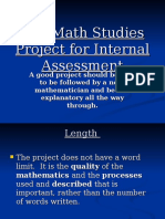 the math studies project for internal assessment  1
