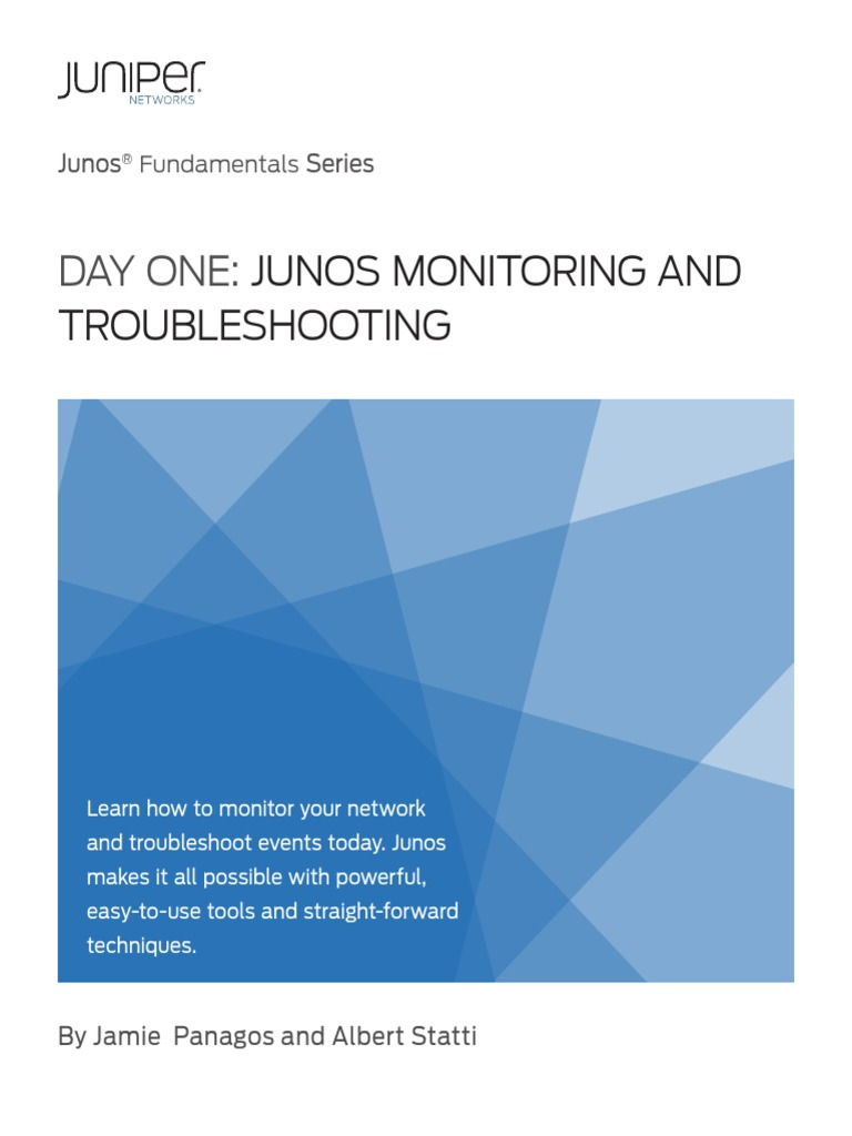 Junos Monitoring and Troubleshooting   Troubleshooting   Computer