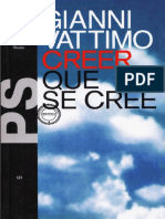 Retorno, primer capítulo del libro 'Creer que se cree' de Gianni Vattimo