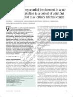 Asymptomatic Myocardial Involvement in Acute