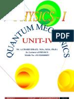 Unit - IV Quantum Mechanics by Mr.charis israel ancha