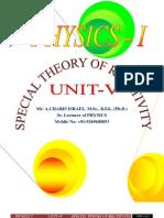 Unit - V Special Theory of Relatuivity
