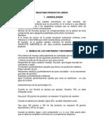 RECETARIO PRODUCTOS VARIOS