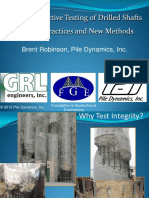 Non-Destructive Testing of Drilled Shafts- Current Practices And