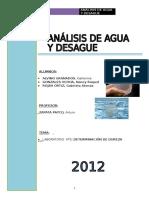 Laboratorio análisis de dureza- Análisis de agua UNI FIA