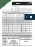 Flat Washers Standard Metric