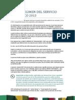 Servicio Domestico Nuevo Regimen 2013