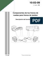 componentes de frenos de rueda tipo tambor