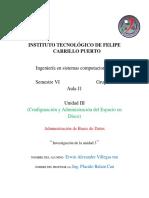 Unidad 3 ADMINISTRACIÓN DE BASE DE DATOS