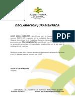 14. DECLARACION JURAMENTADA