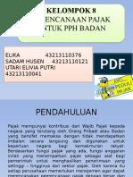 PPT Perencanaan Pajak Untuk PPh Badan