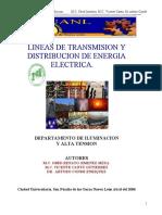 Lineas electricas de transmision y  distibucion