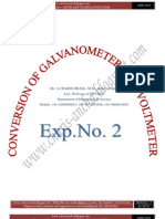 Conversion of Galvanometer Into Voltmeter by Mr. Charis israel ancha