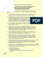 Declaration of Continuity of the Partnership of the GPH and MILF in the Bangsamoro Peace Process