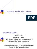 BED BATH & BEYOND'S PLAN