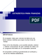 Estadística Para Finanzas