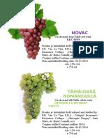 etichete vin tamaioasa + novac