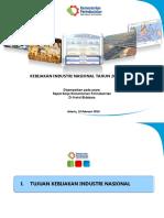 2. Menteri Perindustrian - Kebijakan Industri Nasional Bahan Presentasi Raker 2016 Net2
