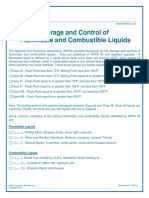 Storage and Control of Flammable and Combustible Liquids
