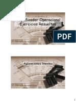 Amplificador Operacional Ejercicios Resu