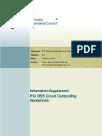 PCI DSS v2 Cloud Guidelines