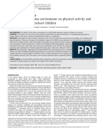 The Effect of the Home Environment on Physical Activity and Dietary Intake in Preschool Children