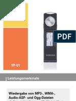 SAMSUNG YP-U1 MP3-Player Benutzerhandbuch