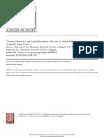 Arabian Ethnicity and Arab Nationalism the Case of Abd Al-Rahman Azzam - Ralph Coury