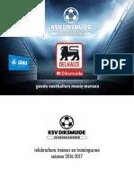 Infobrochure #1 KSV Diksmuide jeugdacademie 2016 2017