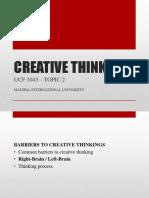 Creative Thinking ( Ucf 1043 ) - Topic 2v1 (2)