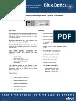 BlueOptics BO55J33660D 10GBASE-BX-D SFP+ Transceiver 60KM Singlemode LC Duplex 10 Gigabit