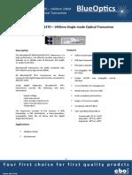BlueOptics BO56JXX620D 10GBASE-CWDM SFP+ Transceiver 20KM Singlemode LC Duplex 10 Gigabit