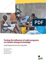 Testing the influence of radio programs on climate change knowledge