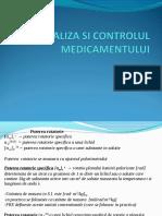 analiza si control al medicamentelor