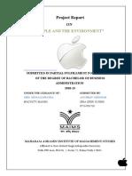 Anubhav Girdhar - Apple and the Environment