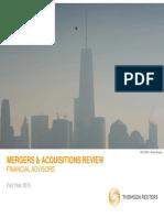Thomson Reuters M&a Review (2015)
