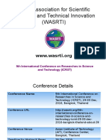 9th International Conference on Researches in Science and Technology (ICRST)