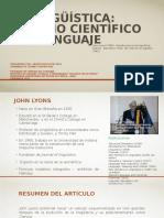 Historia de la Lingüística hasta el Estructuralismo