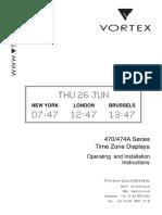 Vortex Multi-Zone Displays Manual