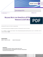 Tc2142en-Ed01 Release Note for Omnivista 8770 Release 2.6.7